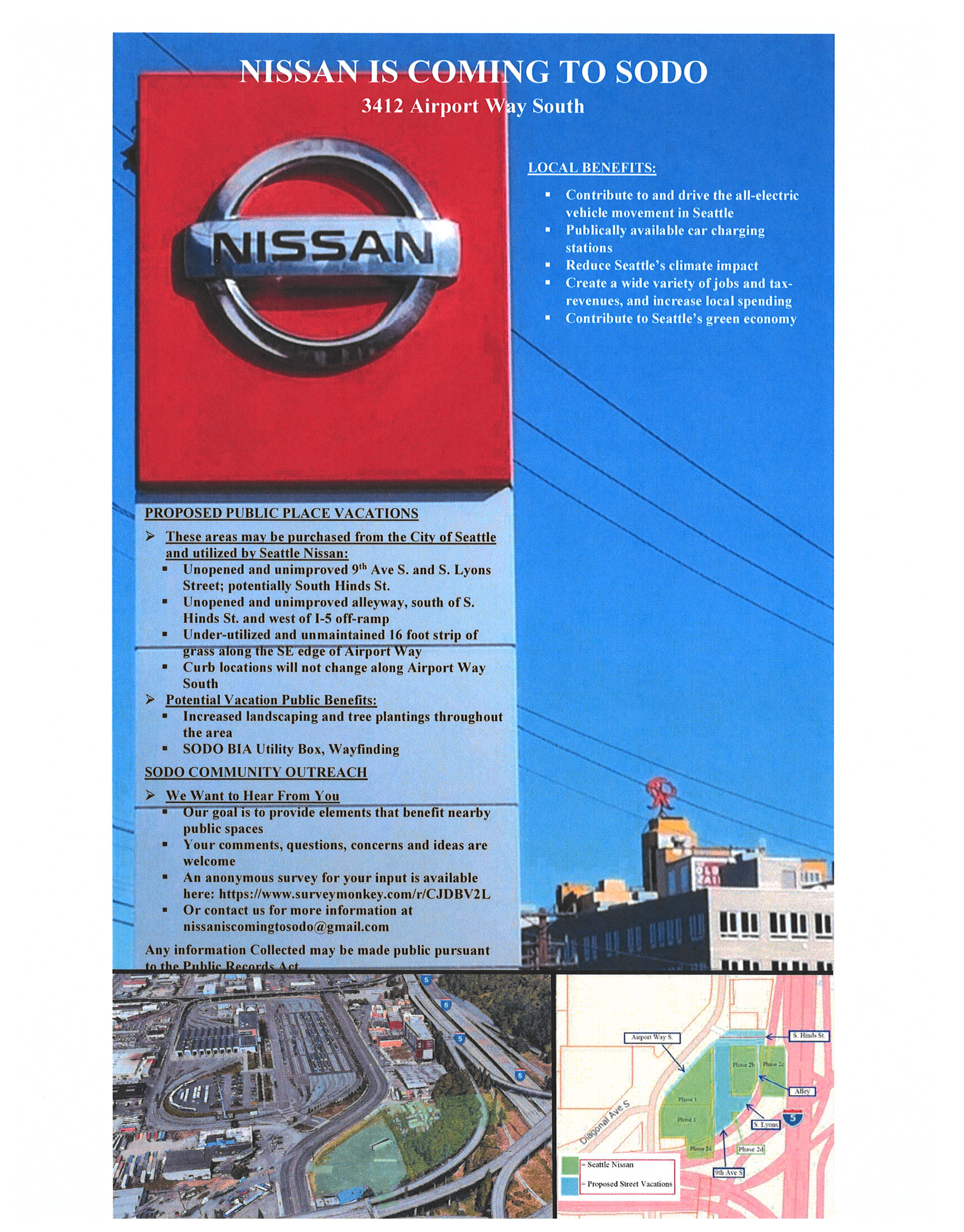 Nissan Dealership Seattle >> Sodo Public Notice Nissan Dealership Coming To Sodo Sodo